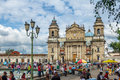 Guatemala City Metropolitan Cathedral at Plaza de la Constitucion Constitution Square Guatemala City, Guatemala Royalty Free Stock Photo
