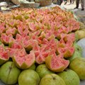 Guava red indian fruits well cutting Royalty Free Stock Photos