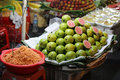 Guavas for sale at a night market in saigon vietnam Stock Photography