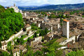 Gubbio in umbria italy medieval town Royalty Free Stock Photo