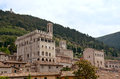 Gubbio umbria italy view onto the ancient town of in the area of Stock Photo