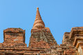 Gubyaukgyi temple bagan detail in nyaung u burma Royalty Free Stock Photos