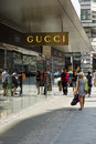 Gucci boutique at friedrichstrasse berlin august is an italian fashion and leather goods brand part of the group Royalty Free Stock Photography