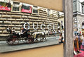 Gucci sign is an italian fashion and leather goods brand part of the group which is owned by french company kering was Stock Images
