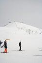 Gudauri, Georgia - March 6, 2017. Mountains ski resort Gudauri Georgia - nature and sport background