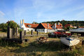Gudhjem on Bornholm Island, Denmark Royalty Free Stock Images