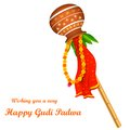 Gudi padwa illustration of lunar new year celebration of india Royalty Free Stock Photo