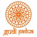 Gudi Padwa. Mandala, rangoli and lettering