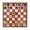 Gueens gambit start chess game isolated on white background Stock Image