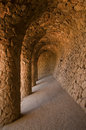 Guell park in Barcelona, Architecture by Gaudi Royalty Free Stock Photography