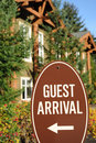 Guest arrival sign. Stock Images
