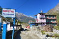 Guest house in nepal one of many houses from annapurna trail november Stock Images
