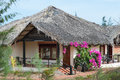 Guest house thatched roof mui ne southern vietnam Stock Photography