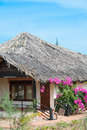 Guest house thatched roof mui ne southern vietnam Royalty Free Stock Photos