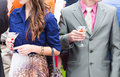 Guests drink champagne on the wedding ceremony Royalty Free Stock Photo