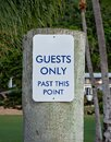 Keep Out Signage At Tropical Resort Royalty Free Stock Photo