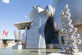 Guggenheim contemporary art museum in Bilbao, Spai Stock Images