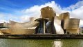 Guggenheim museum bilbao designed by architect frank gehry in basque country spain Royalty Free Stock Photos