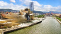 Guggenheim museum bilbao designed by architect frank gehry in basque country spain Royalty Free Stock Image