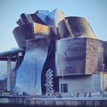 The guggenheim museum bilbao detailed view of in biscay basque country spain Royalty Free Stock Images