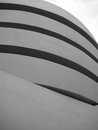 Guggenheim museum exterior in new york greyscale of the city Royalty Free Stock Photo