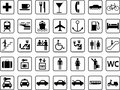 Guide icons vector pictographs and Royalty Free Stock Photo