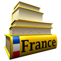 Guidebooks and dictionaries of France Royalty Free Stock Image