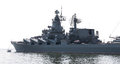 Guided missile cruiser isolated on white background Stock Image