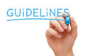 Guidelines Blue Marker Royalty Free Stock Photo