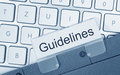 Guidelines - folder with text on computer keyboard Royalty Free Stock Photo