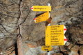 Guidepost in the swiss alps saas almagell valais switzerland is a municipality district of visp canton of Stock Images