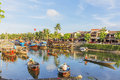 Guides at the thu bon river hoi an vietnam afternoon old town is a famous tourist destination in world and Stock Photos