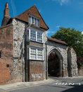 Guildford castle arch the archway leading to the surrey uk Royalty Free Stock Photography