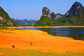 Guilin Mountains and rivers Royalty Free Stock Photos