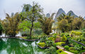 Guilin paradise the famous landscape of in yangshuo guangxi province of china Royalty Free Stock Image
