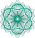 Guilloche rosette  pattern Royalty Free Stock Images
