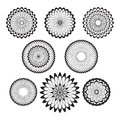 Guilloche rosette set of rosettes round Stock Images