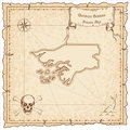 Guinea-Bissau old pirate map.