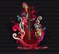 Guitar abstract Royalty Free Stock Photo