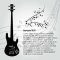 Guitar abstract silhouette on special music background Royalty Free Stock Photo