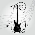 Guitar abstract silhouette on special music background Royalty Free Stock Image