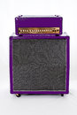 Guitar amp purple half stack amplifier with head Royalty Free Stock Images
