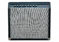 Guitar amplifier black isolated on white Royalty Free Stock Photo