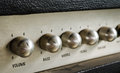 Guitar amplifier close up of Royalty Free Stock Images