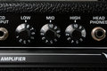 Guitar amplifier controls Royalty Free Stock Photo