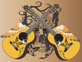 Guitar art music tattoo Stock Photo