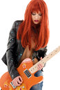 Guitar babe Royalty Free Stock Photo