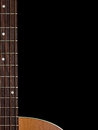 Guitar background folk neck with copyspace Royalty Free Stock Images