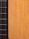 Guitar background with wood grain Stock Photo