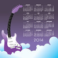 Guitar calendar creative for print or web Stock Photos